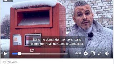Wanze: Christophe Lacroix interpelle Bpost via une vidéo Facebook