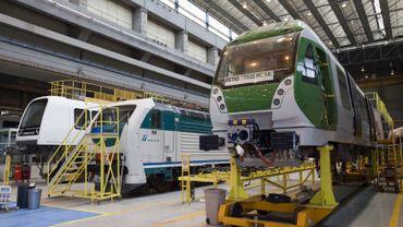 Illustration : des locomotives du constructeur italien AnsaldoBreda