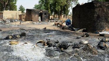 Des destructions causées par des attaques de Boko Haram aux environs de Maiduguri, le 6 février 2016, dans l'Etat de Borno au Nigeria