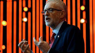 Le chef des travaillistes Jeremy Corbyn, lors d'une réunion à Liverpool le 7 novembre 2019