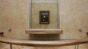 La Joconde telle qu'elle est présentée au Louvre