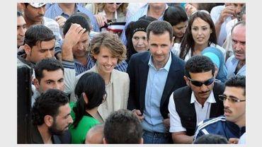 Le président syrien Bachar al-Assad et son épouse Asma, le 30 juin 2011 à Damas