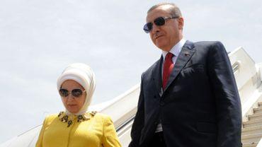 Recep Tayyip Erdogan et son épouse