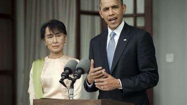 Aung San Suu Kyi et Barack Obama en Birmanie