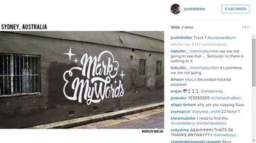 """Le graffiti """"Mark My Words"""" a été pris à Sydney, en Australie"""