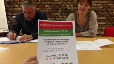 Grève en front commun dans le Hainaut le 24 novembre