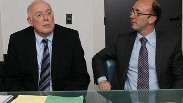 Chrles Picqué (G) et Rudy Demotte (D)