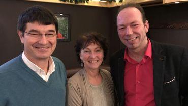 Walter Feltrin et Barbara Dufour, membres fondateurs d'Oxygène, et Cédric Barbiaux, ex-Défi, qui les a rejoints