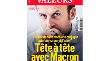 Emmanuel Macron a accordé une interview au magazine Valeurs actuelles