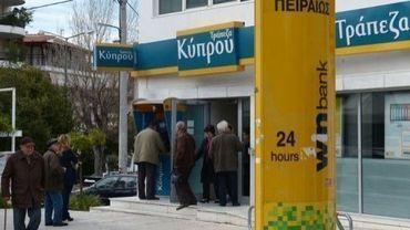 Une agence de la banque Laïki à Nicosie, le 25 mars 2013
