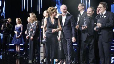 """Tous les gagnants de cette 8ème cérémonie des Magritte avec en avant-plan Sandrine Bonnaire et le réalisateur d'""""Insyriated"""", Philippe Van Leeuw"""