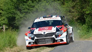 adrian fern mont avec la skoda fabia r5 sur quatre preuves du brc. Black Bedroom Furniture Sets. Home Design Ideas