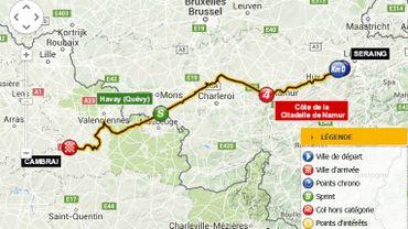 Route réparée à Quévy pour le passage du tour de France
