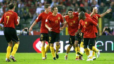 Jan Vertonghen et Marouane Fellaini face au Portugal en 2007