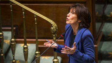 La cheffe de file PS à la Chambre, Laurette Onkelinx ce jeudi 26 novembre 2015 à Bruxelles.