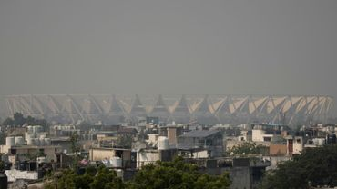 Le stade Jawaharlal Nehru dans la pollution à New Delhi, le 23 octobre 2020