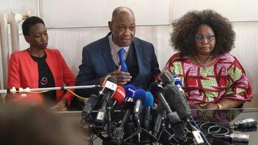 La famille de Naomi Musenga lors d'une conférence de presse le 10 mai 2018