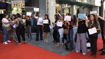 """Action du collectif féministe """"Elles font des films"""""""