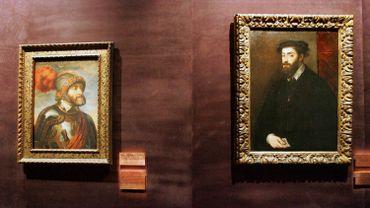 Portraits de Charles Quint par Le Titien (à gauche) et Rubens (à droite)