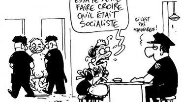Le DSK de Kroll, le premier prix du concours Press Cartoon Belgium 2012