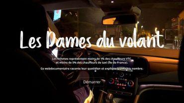 Les Dames du volant, le webdocumentaire sur les femmes conductrices de taxis et de VTC