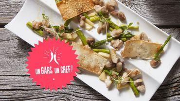 Recette : le ris de veau aux asperges rôties d'Un Gars, un Chef