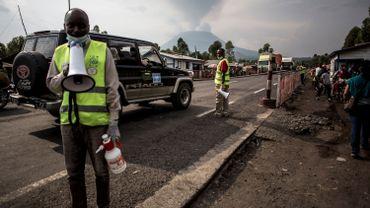 Station de dépistage de l'Ebola sur la route entre Butembo et Goma, le 16 juillet 2019