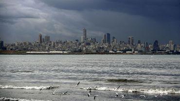 Beyrouth sous un jour tempétueux, le 14 janvier 2021
