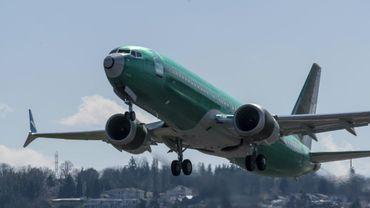 Un Boeing 737 MAX 8 décolle de l'aéroport de Renton, où se trouve l'usine Boeing, le 22 mars 2019
