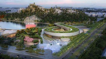 Rendu d'architecte du Musée des sciences et de technologie de Suzhou en Chine.