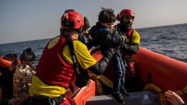 Recherche et sauvetage en Méditerranée.