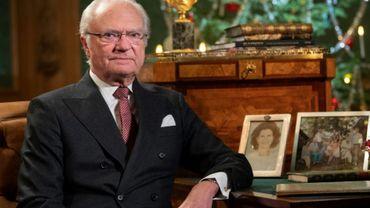 Le roi de Suède Carl XVI Gustaf au château de Stockholm, le 16 décembre 2019