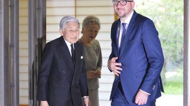 Quand Charles Michel joue le représentant de commerce au Japon