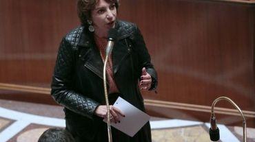 La ministre de la Santé Marisol Touraine, le 21 octobre 2015, à l'Assemblée nationale