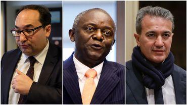 De gauche à droite : Ahmed Laaouej (PS), Pierre Kompany (cdH) et Emir Kir (PS).