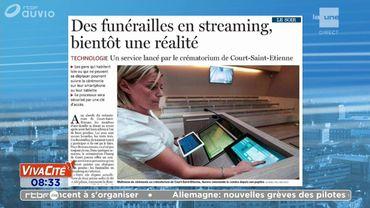 Vos funérailles en streaming?