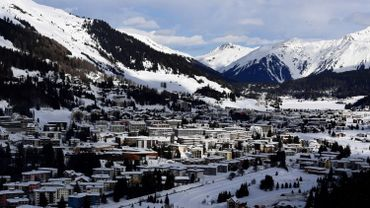 Le site où se tient le forum de Davos