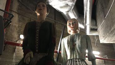 Pour le moment, les géants des Marolles sont rangés dans les sous-sols de la galerie Horta