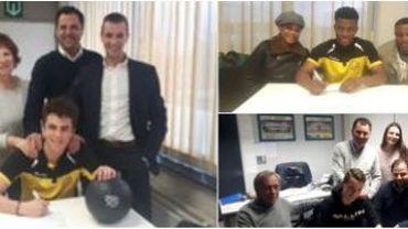 Lokeren récompense trois jeunes talents avec un contrat