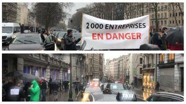 Taxi contre Uber: deux actions ce matin dans les rues de Bruxelles