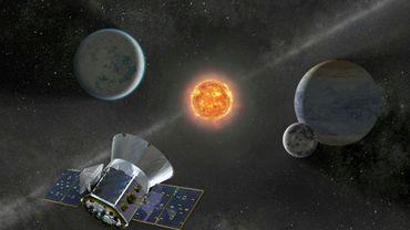 Illustration fournie par la Nasa le 11 avril 2018 montrant le Transiting Exoplanet Survey Satellite (TESS)