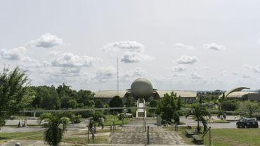 Un studio de cinéma vide de la zone commerciale de Tinapa, le 26 avril 2017 à Calabar, au Nigeria