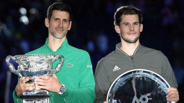 Novak Djokovic et Dominic Thiem