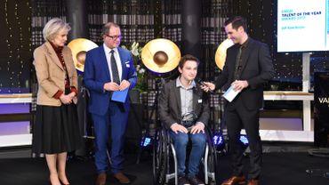 Le Comité Paralympique Belge récompense le tennisman en fauteuil roulant Jef Vandorpe