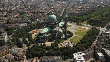 Vue aérienne de la basilique du Sacré-Cœur de Koekelberg