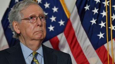 Mitch McConnell lors d'une conférence de presse au Capitole, le 22 septembre 2020