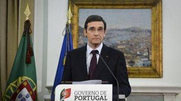 Le Premier ministre portugais, Pedro Passos Coelho, lors d'une conférence de presse le 7 avril 2013 à Lisbonne