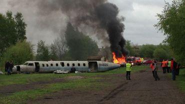Un avion s'écrase sur la base de Florennes
