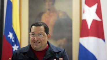Le président Hugo Chávez lors de son allocution télévisiée de ce dimanche à La Havane.