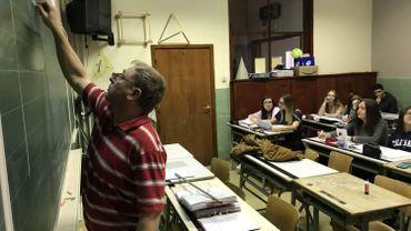 Même le cours de mathématique a été adapté à l'occasion du centenaire de l'armistice
